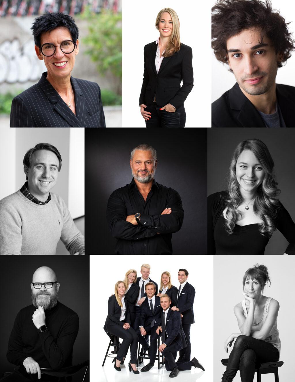 Företagsporträtt i studio kontor eller ute. stora grupper eller enskilda porträtt.